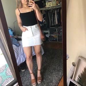White Denim Cotton On Skirt